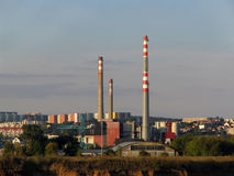 Incineration plant. In Brno city Royalty Free Stock Image