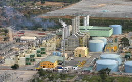 Incineration plant in mallorca aerial view Stock Images