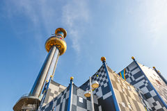 Incineration Plant in Vienna, built by architect Friedensreich Hundertwasser Royalty Free Stock Images