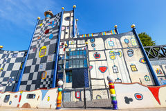 Incineration Plant in Vienna, built by architect Friedensreich Hundertwasser Royalty Free Stock Image