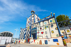 Incineration Plant in Vienna, built by the famous Austrian architect Friedensreich Hundertwass Royalty Free Stock Photos
