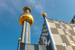 Incineration Plant in Vienna, built by the famous Austrian architect Friedensreich Hundertwass Stock Photo