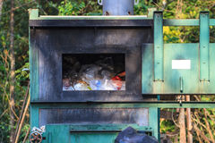 Incinerator in national park Royalty Free Stock Photography