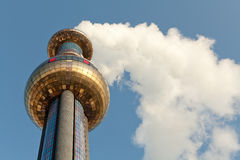 Incinerator with smoke Stock Photo