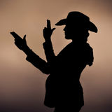 Incinto nello stile del cowboy Immagine Stock
