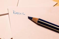Incipit di una lettera Fotografie Stock Libere da Diritti