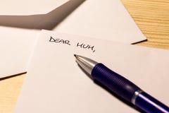 Incipit di una lettera per la mummia Immagine Stock Libera da Diritti