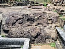 Incisione della roccia nello Sri Lanka Immagini Stock