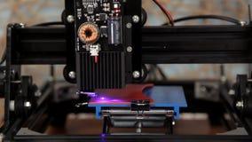 Incisione laser del logo video d archivio