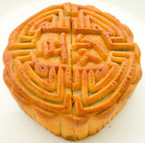 incisioned moon cake Royalty Free Stock Images