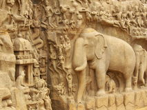 Incisioni indiane antiche Fotografia Stock Libera da Diritti