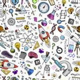 inciso disegnato a mano nel vecchio stile dell'annata e di schizzo formule e calcoli scientifici nella fisica e nella matematica  royalty illustrazione gratis