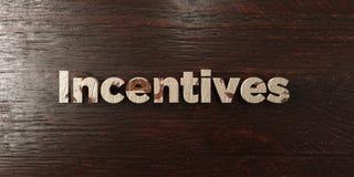Incitations - titre en bois sale sur l'érable - image courante gratuite de redevance rendue par 3D illustration libre de droits