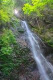 Incliné, cascades de Hossawa dans Hinohara Photographie stock libre de droits