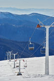Inclinação abandonada do esqui Imagens de Stock