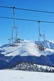 Inclinação abandonada do esqui Imagem de Stock Royalty Free