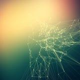 Inclinação abstrato colorido do fundo Pontos de conexão com linha Imagens de Stock