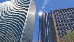 Inclinação acima de construções altas em Pittsburgh do centro filme