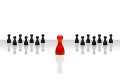 Inclinação agrupado preto vermelho dianteiro do líder do conceito do negócio Imagens de Stock Royalty Free