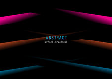 Inclinação azul alaranjado cor-de-rosa abstrato no preto Imagem de Stock Royalty Free