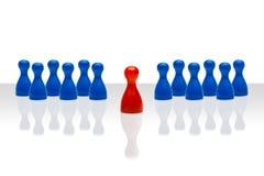 Inclinação azul vermelho dianteiro da liderança do conceito do negócio Imagens de Stock
