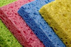Inclinação colorida das esponjas Fotografia de Stock Royalty Free