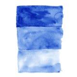 Inclinação da água azul da aquarela Imagem de Stock Royalty Free