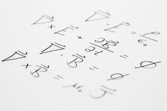 Inclinação das equações de Maxwell Imagens de Stock