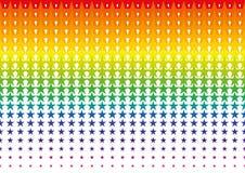 Inclinação de intervalo mínimo do teste padrão de ponto da estrela no formato do vetor Fotografia de Stock