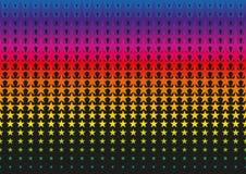 Inclinação de intervalo mínimo do teste padrão de ponto da estrela no formato do vetor Fotos de Stock