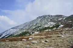 Inclinação de montanha coberto de neve Fotografia de Stock Royalty Free