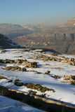 Inclinação de montanha rochosa Foto de Stock