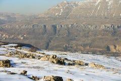 Inclinação de montanha rochosa Imagens de Stock