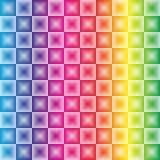 Inclinação do arco-íris de Colorfoul com luz do quadrado do efeito da ilusão 3d Fotografia de Stock