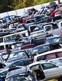 Inclinação do cemitério de automóveis Foto de Stock