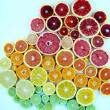 Inclinação do citrino Foto de Stock Royalty Free