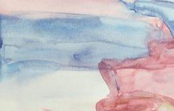 Inclinação do desenho molhado da aquarela Foto de Stock