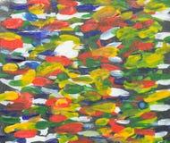 Inclinação do desenho molhado da aquarela Fotos de Stock Royalty Free