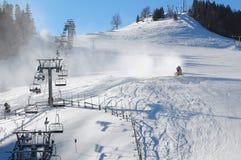 Inclinação do esqui Imagem de Stock