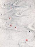 Inclinação do esqui Imagem de Stock Royalty Free