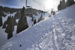 Inclinação do esqui imagens de stock