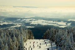 Inclinação do esqui Foto de Stock