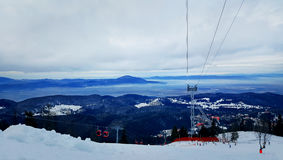 Inclinação do esqui Foto de Stock Royalty Free
