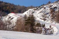 A inclinação do esqui Fotografia de Stock Royalty Free
