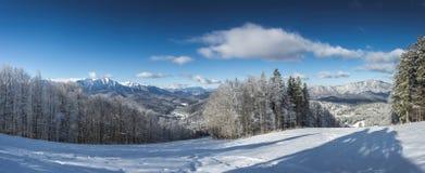 Inclinação do esqui de Clabucet Fotografia de Stock Royalty Free