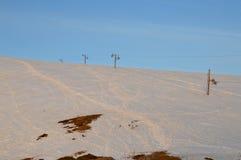 Inclinação do esqui no nascer do sol Foto de Stock