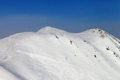 Inclinação do esqui, off-piste imagens de stock royalty free