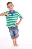 Inclinação do menino imagem de stock royalty free