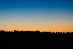 Inclinação do nascer do sol Foto de Stock