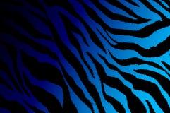 Inclinação do projeto da arte contemporânea da listra da zebra do roxo escuro à luz - cor azul do fundo Imagens de Stock Royalty Free